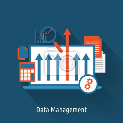 Data Management concept flat design