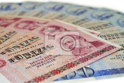 DDR geldfächer, Geldscheine