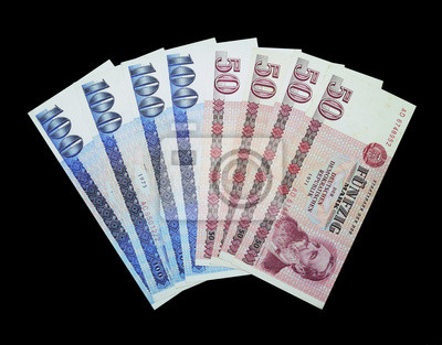DDR Geldfächer, rachunki