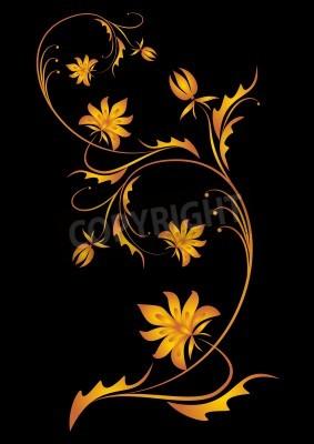 Obraz decorative branch  vector illustration