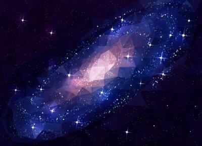 Obraz Deep Space Galaxy Andromeda. Low Poly.