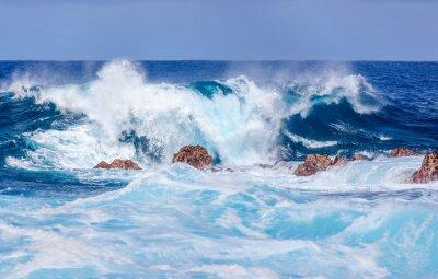 Obraz déferlante bleue sur Cote Sud Réunion