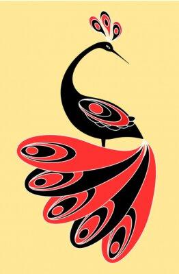 Obraz Dekoracyjne ptak magia.