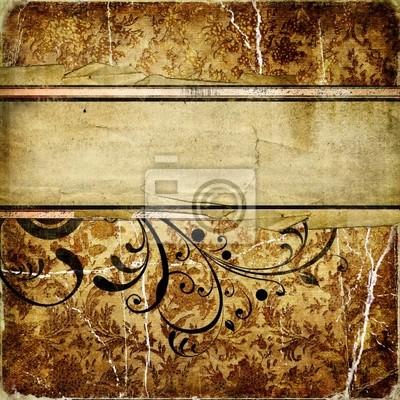 dekoracyjne zabytkowe papieru golde z miejsca na tekst