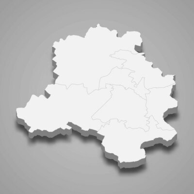 Obraz Delhi 3d map state of India Template for your design