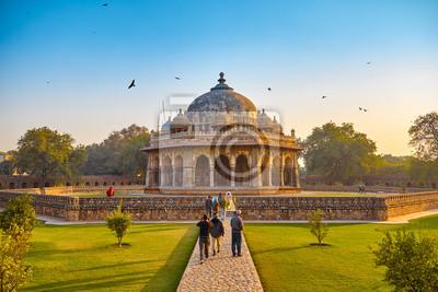 Obraz Delhi, Indie, grudnia 14,2015: Humayuna (mauzoleum) w ogrodzie Char Bagh