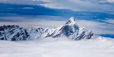 Obraz Dent d'Hérens szczyt w Alpach Pennińskich, leżąc na t