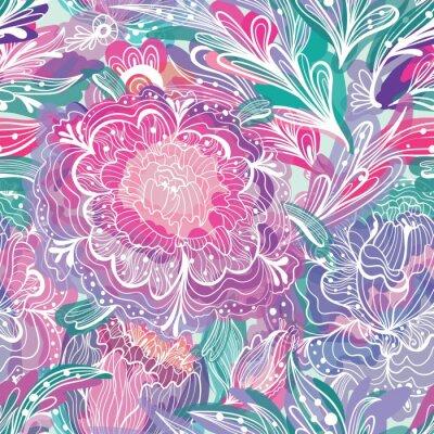Obraz Deseń z Magic Light Kwiaty
