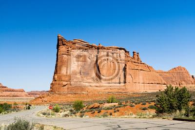 Desert Road Through Arches National Park