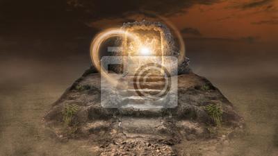 Obraz Design concept, find the ancient time portal