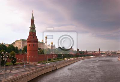 Deszczowe chmury nad Moskwą
