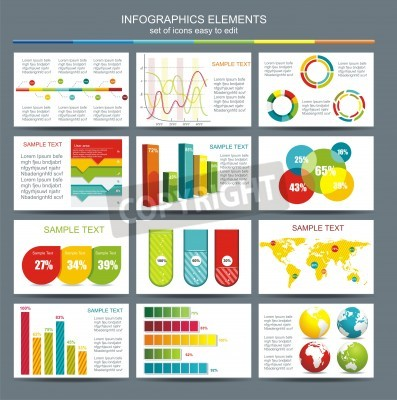 Detail infographic illustration  World Map and Information Graphics