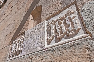 Detail on a wall of the Cathedral of Barcelona