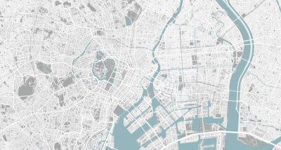 Obraz Detailed map of Tokyo, Japan