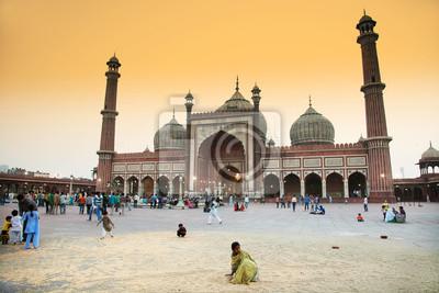 Obraz Detal architektoniczny Meczet Jama Masjid, Old Delhi, Indie