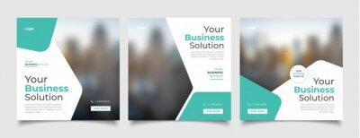 Obraz Digital business marketing banner for social media post template