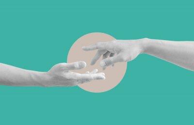 Obraz Digital collage modern art. Helping hand