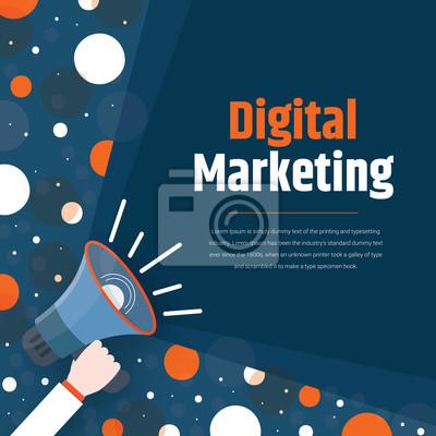 Digital marketing, digital technologies concept.