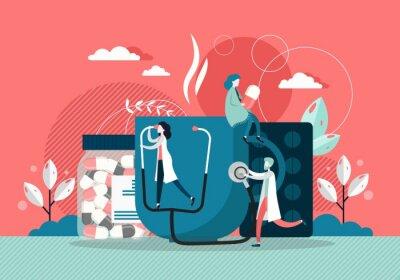 Disease concept vector flat style design illustration