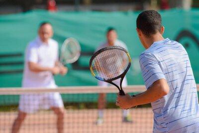 Obraz Dla mężczyzn grających w tenisa sobowtórów