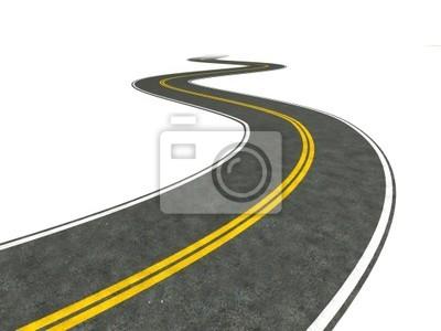 Obraz Długa droga ilustracji uzwojenia