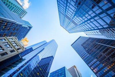 Obraz Do widoku w dzielnicy finansowej, Manhattan, New York