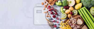 Obraz Dobór zdrowych, bogatych włókien żywności wegańskiej do gotowania