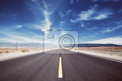 Doliny śmierci pustyni droga, podróży pojęcie, barwi stonowanego obrazek, usa.