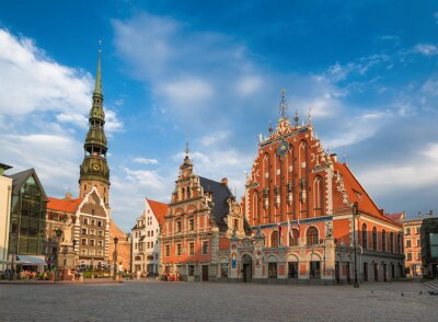 Obraz Dom Czarnogłowych (Ryga, Łotwa)