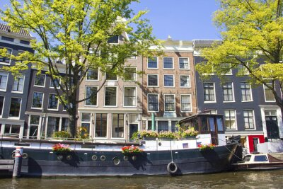 Obraz Dom łodzi w Amsterdamie