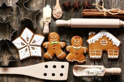 Obraz Domowe ciasteczka świąteczne pierniki