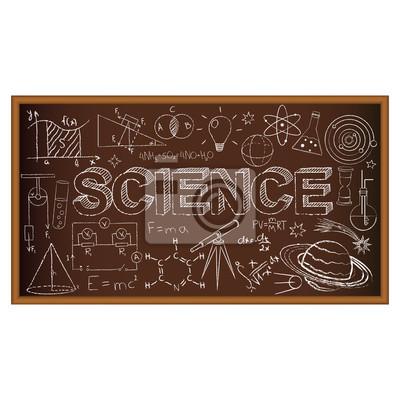 Doodle bohatera szkolnego zawiera symbole naukowe. Ilustracji wektorowych