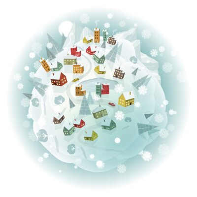 Obraz Dookoła świata (krajobrazy zima)