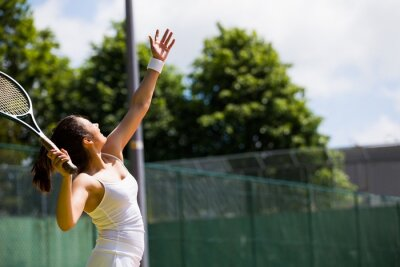 Obraz Dość tenisista o służyć