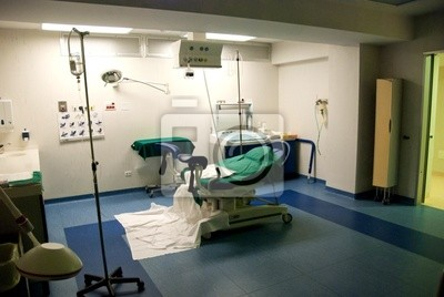 Dostawa w pokoju szpitala włoskiego