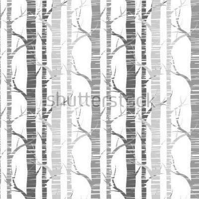 Obraz Dostępny wzór, tło z brzozową stroną. Tkanina, tkaniny lub tapety