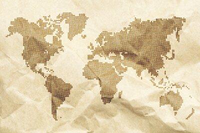 Obraz Dot Świat tle mapy w starym stylu