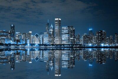 Obraz Downtown Chicago w nocy