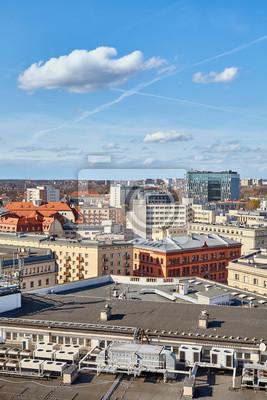 Downtown Poznan cityscape on a sunny day, Poland.