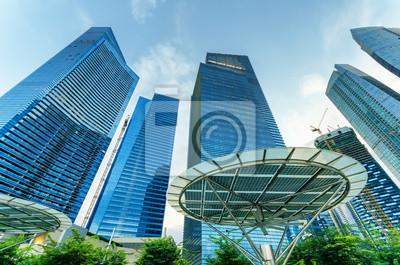 Obraz Drapacze chmur w dzielnicy finansowej w Singapurze