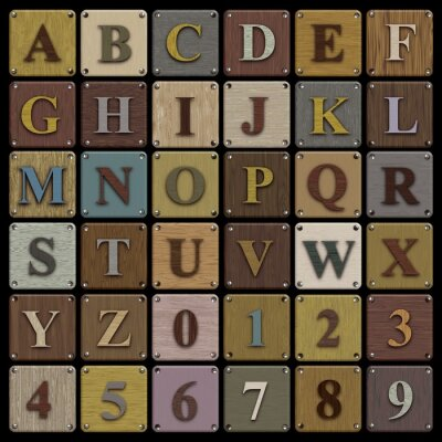 Obraz Drewniane Alfabet bloku