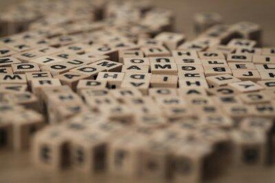 Obraz drewniane kostki