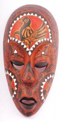 Obraz drewniane maski kobiety
