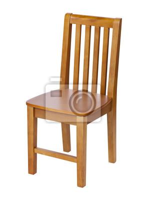 Drewniany Malarza Krzesło Odizolowywający Na Bielu Zdjęcie