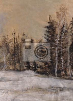 Obraz Drewno z drzew iglastych
