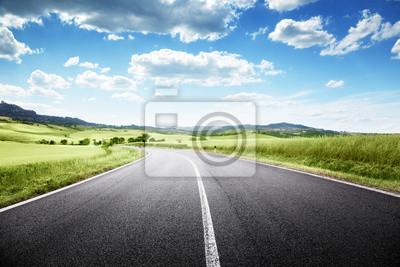 Obraz droga asfaltowa w Toskanii we Włoszech