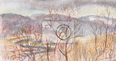 Obraz Droga w górach