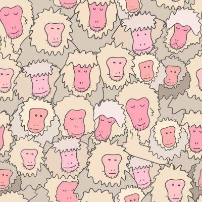 drukuj z japońskim makakiem