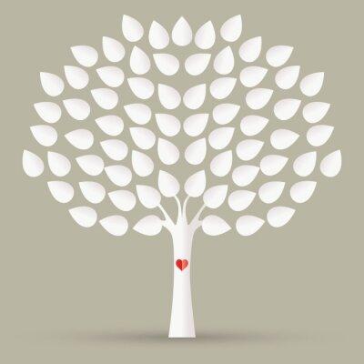 Obraz drzewa z liści
