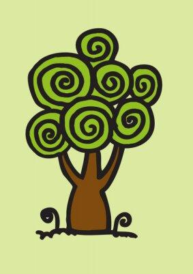 Obraz Drzewo art design Jaidee rodziny w stylu